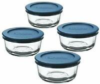 4 Pieces Glass Food Storage Container set with Lids Kitchen