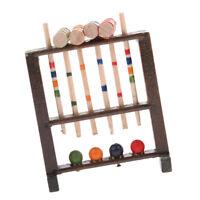 1/12 Dollhouse Miniature Croquet Game Set