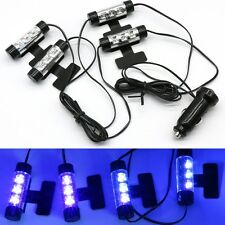 4x 3 Blue LED Car Charge Interior Atmosphere Mood Light Decorative Lamps UKstock