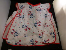DISNEY VINTAGE MICKEY MOUSE  ADORABLE BABY BIB APRON SMOCK   VERY OLD
