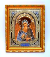 Ikone Schutzengel geweiht икона Ангел хранитель освящена в рамке 14,5x12x1,7 cm