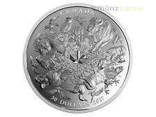 30 $ Dollar Flora & Faune of Canada Canada 2 pouces Once PP argent 2017