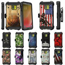For Samsung Galaxy J2 Core / J2 Dash / J2 Pure Full Body Armor Holster Clip Case