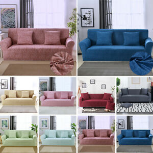 1-4 Seaters Elastic Slipcovers Stretch Protector Spandex Sofa Recliner Cover