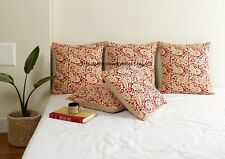 Cushion Cover Indian Handmade Kantha Work Cotton Quilted Pillow Cases Home Decor