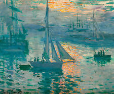 Monet 1873, Sunrise (Marine), Fade Resistant HD Art Print or Canvas