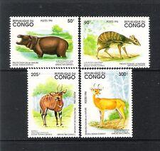 CONGO REPUBLIQUE DU (1994) - LOT OF 4V (**MNH) - ANIMAUX D´AFRIQUE / WILDLIFE