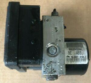 PEUGEOT CITROEN ABS Pump ECU Control Unit 9663945580 10.0207-0105.4 Ref S4