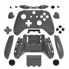 Carbon Fiber Grain Custom Shell Case Mod Kit Buttons for Xbox One S X Controller