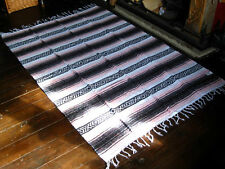 LARGE MEXICAN BLANKET FALSA RUG Soft Pink HANDMADE Throw Mat 183cm x 126cm