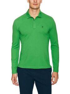 Victorinox Men's Apple Green VX Movement Long Sleeve Zip Polo Shirt