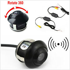 DC12V 2.4Ghz Wireless Transmitter&Receiver 360° Rotatable Car Reverse Camera Kit