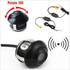 DC12V 2.4Ghz Wireless Transmitter&Receiver 360° Rotatable Car Reverse Camera Kit