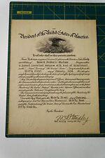 President Franklin D. Roosevelt 1934 Naval Reserve Appointment