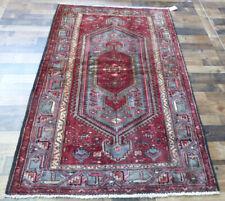"4'5""x7' Tribal Authentic Antique Geometric Bidjar Oriental Vintage rug"