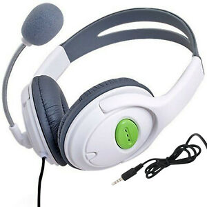 WHITE DELUXE HEADSET HEADPHONE WITH MICROPHONE FOR SONY PS4 PRO XBOX ONE