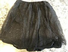 Bonpoint Girls Black Glitter Skirt Size 2