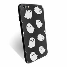 For iPhone 6 PLUS Case Tempered Glass Back Cover Ghost Pattern - S3129
