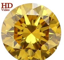 Natural Loose Diamond Round SI1 Clarity Greenish Yellow Color 0.14 Ct KR654