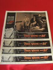 """"""" FREE WHITE and 21 """" (4)1963 LOBBY CARDS -FREDERICK  O'NEAL-ANNALENA LUND"""