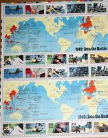 1992 sheet World War II: 1942: Into Battle Sc#2697