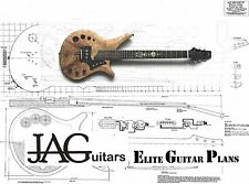 Luthiers Project Plan/Drawing for JAG Navigator guitar Ideal Gift P020