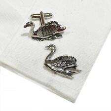 Cufflinks Handmade in England Silver Pewter Swan High Quality