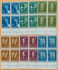 Luxembourg  6 blocks of 4 Olympic Stamps MNH