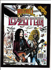 ROCK N' ROLL COMICS #6  [1991 VG+]  LED-ZEPPELIN --MAGAZINE SIZE-- SCARCE!