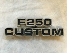 1977 Ford Truck F250 Custom Fender Emblem