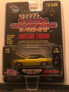 1/64 RACING CHAMPIONS MINT MOTOR TREND 1969 CHEVROLET CAMARO YELLOW & BLACK TOP