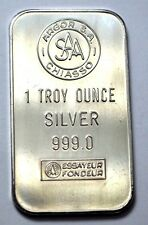 Swiss SAA Ultra Rare 1 Troy Oz. .999 Fine Silver Art Bar , Argor S.A.Chiasso