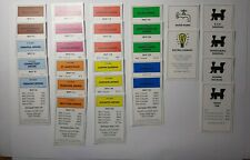 2008 Monopoly Replacement Parts •Complete Set of Property Cards