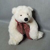 Vintage Gund Codie the Polar Bear Teddy Bear Plush Stuffed Animal with Scarf
