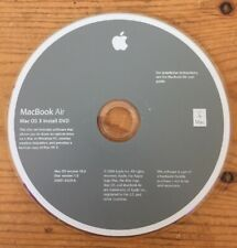 2009 Macintosh MacBook Air Mac OS X 10.6 Snow Leopard Software Install DVD Disc