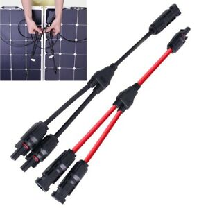 Y Branch Connector Solar Panel 30A Cable FFM MMF PV T Splitter DC1000V
