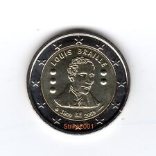 2 EURO COMMEMORATIVO BELGIO 2009 Louis Braille