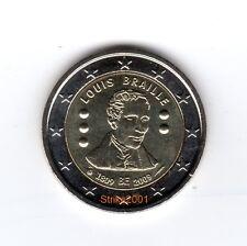 2 EURO COMMEMORATIVO BELGIO 2009 Louis Braille