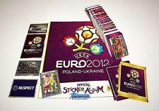 PANINI EM 12 Euro 2012 - Komplettset (Intern.) + Leeralbum + Tüten