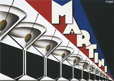 Martini by Steve Forney Art Print Vintage Bar Poster Olives Glass Retro 13x19