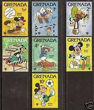 GRENADA 1979 DISNEY YEAR of CHILD SPORTS GOLF 7v MNH