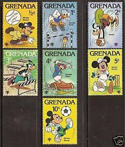 GRENADA 1979 DISNEY YEAR CHILD SPORTS Set of 7v MNH - WHOLESALE LOT of 10 Sets