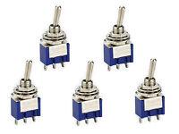 5 St. Miniatur Kippschalter Schalter Mini Schalter 1 x UM  EIN-EIN  (ein-aus)
