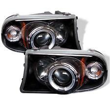 Projector Head Lights Lamps Dodge Dakota 97-04 Durango 98-03 HALO LED - Black