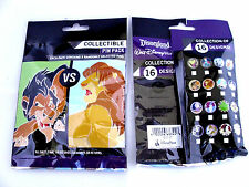 Disney * HEROES & VILLAINS * New & Sealed * 5-pin Collectible Mystery Pin Pack