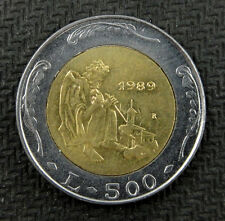 San Marino Bimetallic Coin 500 Lire 1989 AU-UNC, History