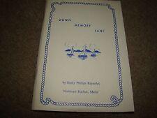 DOWN MEMORY LANE EMILY PHILLIPS REYNOLDS 1991