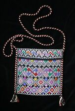 Sm Black & Multi-Color Bag Morral Maya San Andrés Larrainzar Mexico Hand Woven