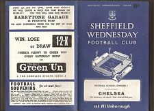 1968 FOOTBALL LEAGUE DIVISION 1 SHEFFIELD WEDNESDAY v CHELSEA 6th APRIL