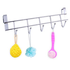 5-Over Door Hook Cloth Garment Coat Dress Bathroom Towel Coatrack Hanger Storage